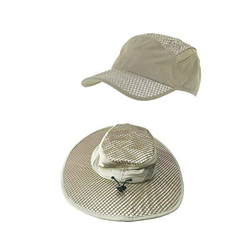 GGDC 2 pcs Anti-UV Sunstroke-Prevented Evaporative Cooling Hat Summer Ice Cap Sun Hat Unisex