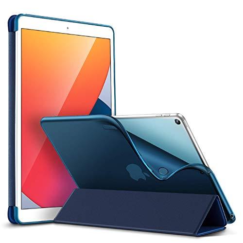 ESR Slim Case para iPad 8ª geração (2020) / 7ª geração (2019) [Capa de desligamento automático] [Parte traseira flexível com tela/suporte de gravação] Bounce, azul marinho