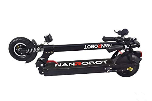 NANROBOT X4 Commuting Electric Scooter Foldable, 8' Explosion-Proof Solid Tire, 500W Motor, Max Speed 20MPH 25 Mile Range of Riding, Max Weight 260lbs