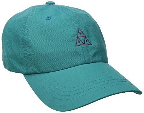 HUF Trip Tri Curved Strapback Cap Basecap Baseballcap Kappe (One Size - Petrol)