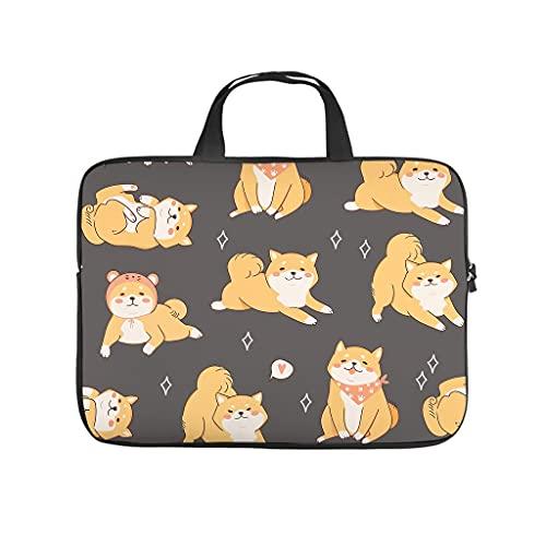 Facbalaign Puupy Dog Laptoptasche Nette Inu Notebooktasche Tragbar Kratzfest mit Griff White 10 Zoll