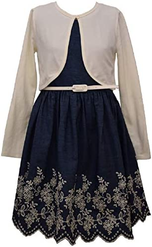 Bonnie Jean Girls Special Occasion Cardigan Dress Set 16 Blue product image