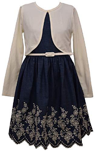 Bonnie Jean Girls' Special Occasion Cardigan Dress Set (16, Blue)