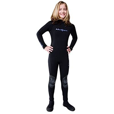 NeoSport Wetsuits Junior Premium Neoprene 3mm Junior Full Suit, Black, 12 - Diving, Snorkeling & Wakeboarding