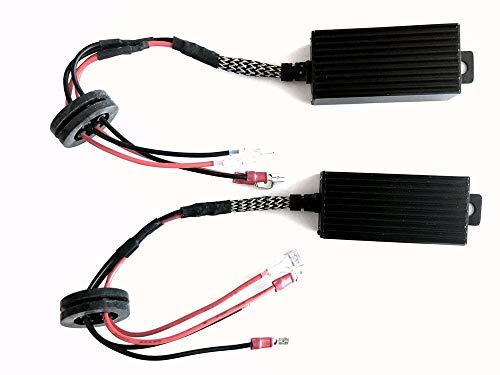 Motoeye H7 Decoder CAN-BUS EMC Fehlermeldung Warnunterdrücker Anti-Blink Kondensator Kabelbaum für LED Scheinwerfersysteme (1 Paar)