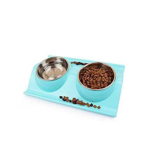 PETCUTE Gamelle pour Chat Bol Double pour Chat avec Support surélevé Gamelle pour Chaton Bol Anti-Glisse Bol de Nourriture pour Animal Domestique
