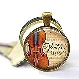 Violine und Musik-Anhänger, Geschenk für Musiker, Lehrer, Violinist Geschenk, Violinist als Schlüsselanhänger, einzigartiges Geschenk für jeden Tag
