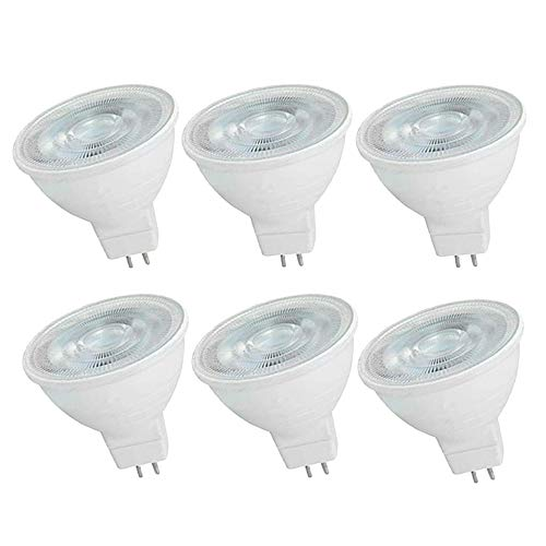 OUGEER 6 Stück MR16 LED-Leuchtmittel 6W AC 220-240V LED GU5.3, Entspricht 60W MR16 Halogenlampe Warmweiß 3000K MR16 LED-Strahler GU5,3 600 Lumen Nicht Dimmbar