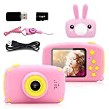Seckton Toys for 3-6 Year Old Girls Kids Camera HD 1080P Digital Camera for Kids Video Recorder Cameras Cartoon Camcorder Best Gift Children Party Outdoor Play Pink Rabbit Christmas Birthday Gifts