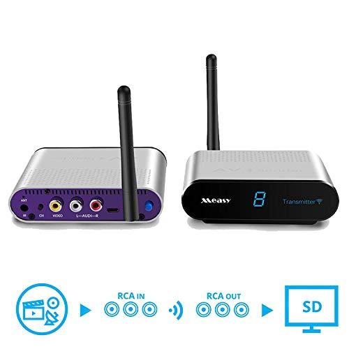 Wireless av Transmitter and Receiver measy AV530 TV Transmitter and Receiver up to 300m/1000ft to Camera,Monitor,TV - Silver, RCA Extender