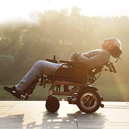 2020 Silla de ruedas eléctrica con Bluetooth Control Remoto, motorizado Fold plegable de alimentación compacto Movilidad for sillas de ruedas Aid, ligero plegable Llevar Silla de ruedas eléctrica, apr