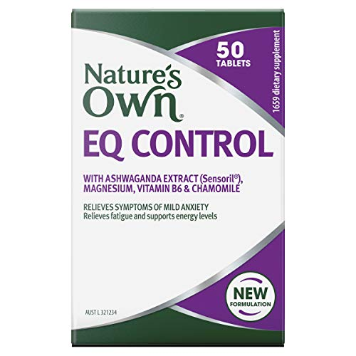 Nature's Own EQ Control - Relieves Symptoms of Mild Anxiety - Relieves Fatigue - Supports Nervous System Function, 50 Tablets