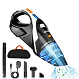 Cordless Handheld-Vacuum-Cleaner Rechargeable-Vac Lightweight Portable-Cleaning: 9kpa Cyclonic Suction Hand Vacuum Li-ion Battery Wet/Dry Cordless Vacuum for Pet Hair, Home,Car Use