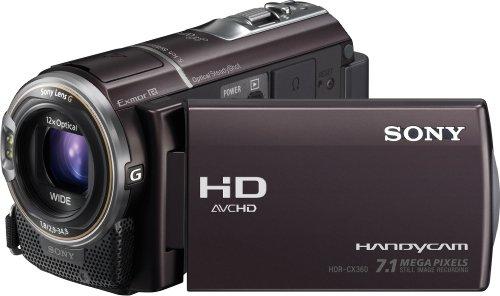 Sony HDR-CX360VE Full HD Camcorder (integrierter 32 GB Speicher, 7,6 cm (3 Zoll) Display) braun
