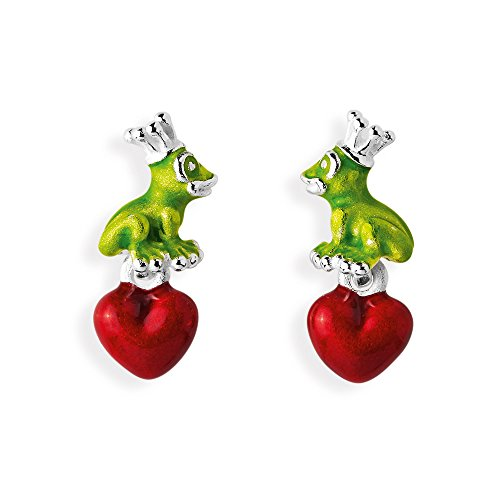 Heartbreaker Damen- Froschohrstecker Froggy 925 Silber Brandlack- LD FG 23 GR