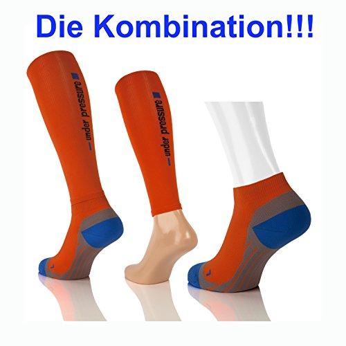 Sport Kompressions Tubes 'under pressure' Competition- Kompressionsklasse 20-22mmHg (orange, S (Wadenmaß: 26-32cm)) - 3