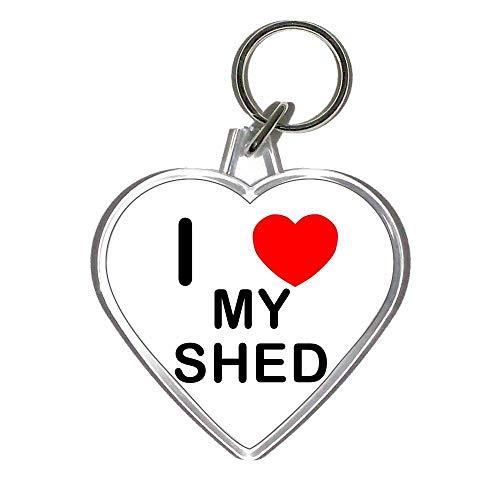 I Love My Shed - Heart Shaped Key Ring