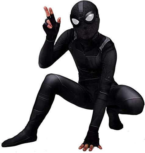 Amazing Spiderman Movie Erwachsenenkostüm Cosplay schwarz elastische Strümpfe Kind Body Suit Party of Superhelden Thema Mode Persönlichkeit (Farbe: Kinder, Größe: L)