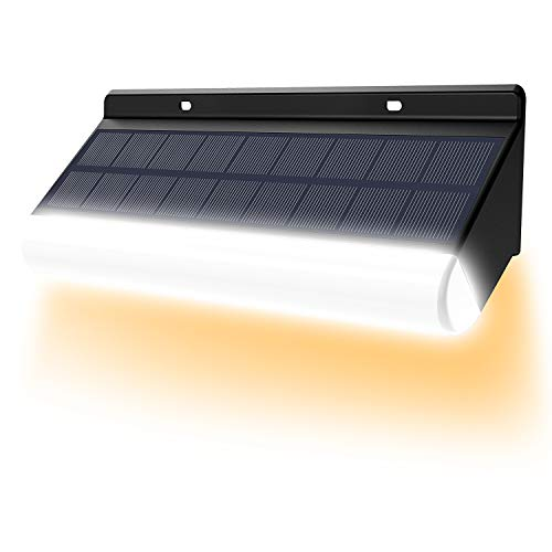 Lámpara de pared LED inalámbrica de control remoto CLY, temperatura de color ajustable, luz de energía solar 3000mAh IP67 lámpara de pared solar IP66 para decoración de jardín (1pcs)