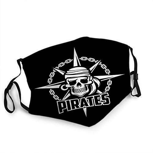 Mond Anti-Dust Zwarte Piraten Vlag van Zeeman Of Kapitein Skeleton Schedel met Oorbel en Kerchief Bandana