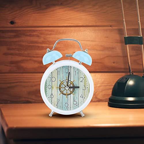 AUNMAS wekker handmatig modieuze kleine Sunrise Digital Night Luminous dubbele klok blauwe klok voor slaapkamer tijdmanagement zware drempels