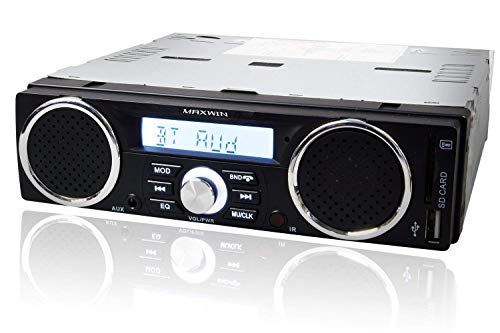 MAXWIN(マックスウィン)メディアプレーヤーBluetoothブルートゥースオーディオ1DINデッキ車載USBSDスロットRCA出力12V1DINSP001