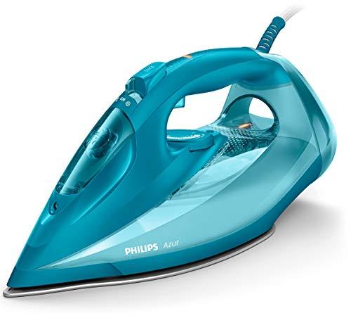 Philips Azur GC4558/20 - Plancha (Plancha a vapor, Suela de SteamGlide, 2 m, 230 g/min, Turquesa, 50 g/min)
