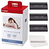 Canon KP-108IN Color Ink and Paper Set + Fibertique Cleaning Cloth
