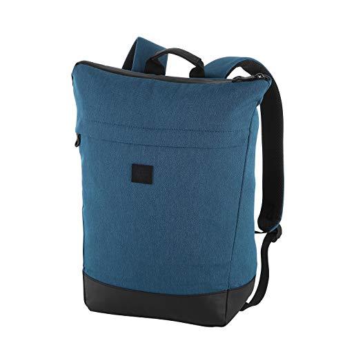 Rada Rucksack RS/36, Freizeitrucksack mit Lapto Tablet Fach, DIN A4 Ordner kompatibler Daypack für Mädchen und Jungen, wasserabweisender Daypack, Damen und Herren, Freizeit (Petrol 2tone Cognac)