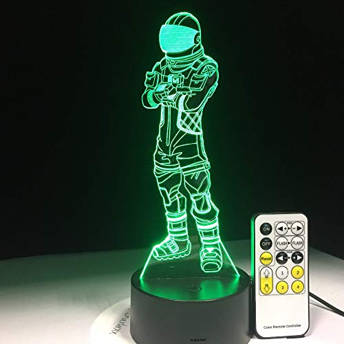 Mddjj Voyager Game 3D Lamp Arylic Crystal Rgb Changeable Led Mood Lamp 7 Colors Night Light For Birthday Holiday Gift Drop Ship Schlafzimmerdekoration