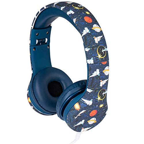 Snug Play+ Kids Headphones Volume Limiting and Audio Sharing Port (Space)