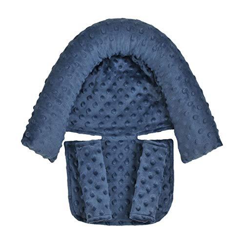SHARRA 3-en-1 reposacabezas Coche bebé Almohada Suave para el Cuello y Funda para cinturón de Seguridad Almohadillas para la Cabeza y el Cuello del bebé para Asientos de Coche, cochecitos y hamacas