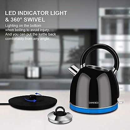SAMEBOO-WasserkocherElektrischer-Wasserkessel-mit-LED-BeleuchtungGlaswasserkocher-Kalkfilter-WasserstandsanzeigeTeekocher-BPA-frei-Trockengehschutz-Teekessel-Auto-Off-max-2200-Watt-17-Liters