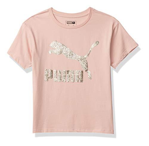 PUMA Girls' T-Shirt, Lt Pastel Pink, M