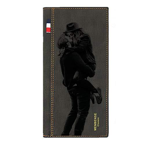 Leder Brieftasche für Männer, personalisierte Weihnachtsdeko Brieftasche, denkwürdiges personalisiertes Geschenk