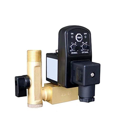 YIJIAN-UMBRELLA 1/2 Pulgada DN15 Válvulas de solenoide automático de Drenaje electrónico 24V 110 V 220V 380V Tipo Dividido Tanque de Gas cronológico electrónico comprimido Punto de Gas Opt-A