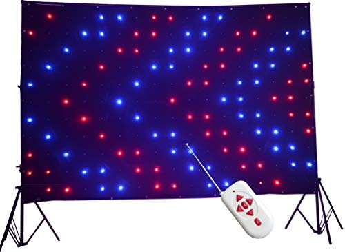 KHXED LED Vision Curtain P18 2x3M Remote control DMX512 for Mobile DJ Band night club stage backdrop