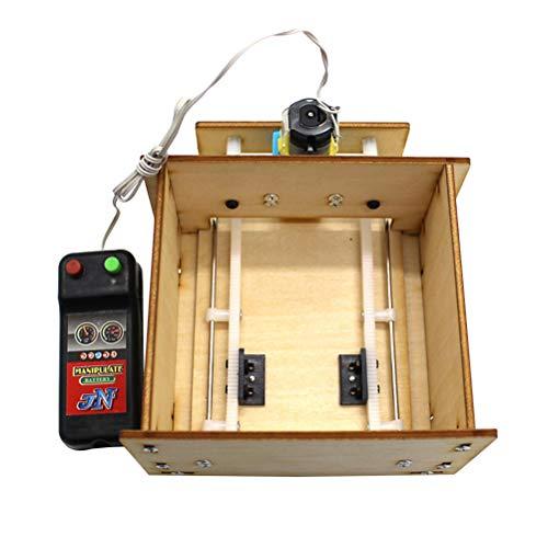 Toyvian Modelo DIY Casa Ascensor Puerta de Madera Garaje de Elevación Puerta Control Remoto Stem Juguetes (Sin Batería)
