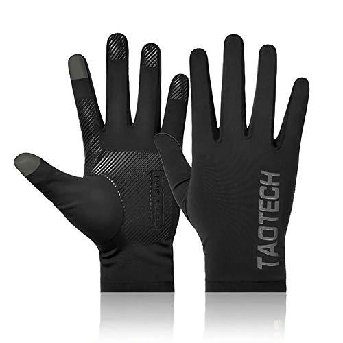 TaoTech グローブ ライナー UV対策 サイクルグローブ 通気性 薄型 滑止め付け スキー スノーボード 釣り ゴルフ 自転車 運転 タッチパネル対応 (インナー用タイプA, S-M)
