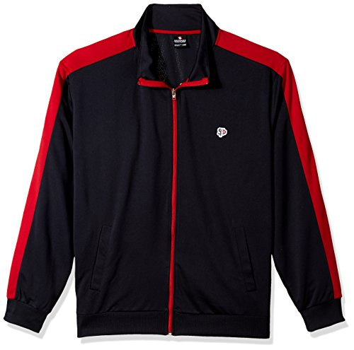 Southpole Men's Full-Zip Athletic Track Jacket, Navy, Small