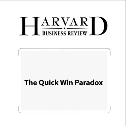 The Quick Win Paradox (Harvard Business Review) copertina