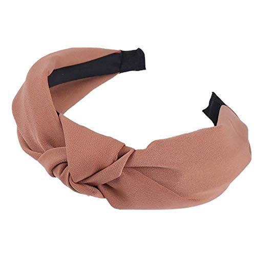 Solid enkele kleur vrouwen boog gestreepte stof band meisjes haaraccessoires haarband brede zijde van de vrouwen,49