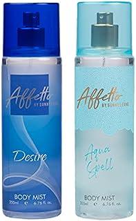 Affetto By Sunny Leone Desire & Aqua Spell Body Mist - For Women 200ML Each (400ML, Pack of 2)