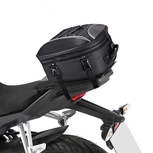Essming La Cola de la Motocicleta del Asiento Trasero de la Motocicleta del Bolso del Bolso del morral de múltiples Funciones durables de Alta Capacidad a Prueba de Agua de Cola Rider Bolsas