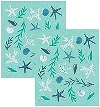 Now Designs Compostable Swedish Dishcloths, Coastal Treasures - 6.5 x 8 in | Set of 2
