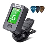 BROTOU Guitar Tuner Clip-On Tuner Digital Electronic Tuner Acoustic with LCD Display for Guitar, Bass, Violin, Ukulele...