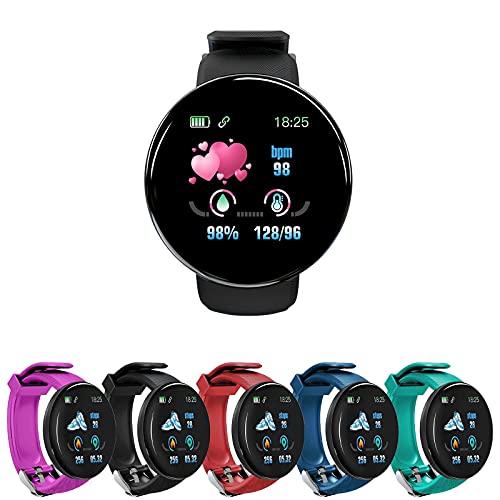 Funyplus Smartwatch Damen,Smartwatch Herren,D18S 1.44in Smart Watch Sleep Monitoring Fitness-Tracker Waterproof Bracelet,Multifunktions-wasserdichte Outdoor-Sport-Smartwatch für Android-iOS-Handys
