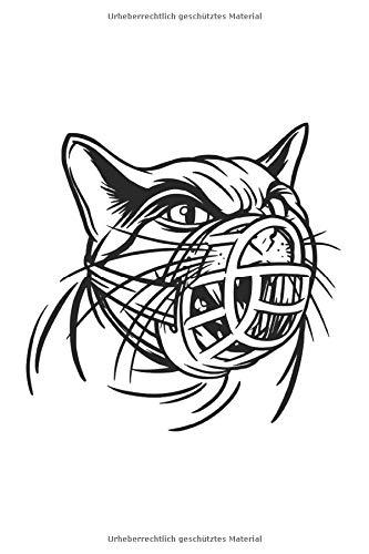 KATZEN MAULKORB: Notizbuch - 120 Seiten liniertes Papier - Geschenk-Idee - Katzenmotiv - Geburtstagsgeschenk - lustiges Katzen Journal