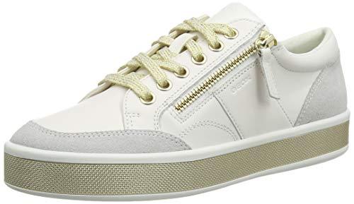Geox Womens D Leelu' E Sneaker, White,41 EU