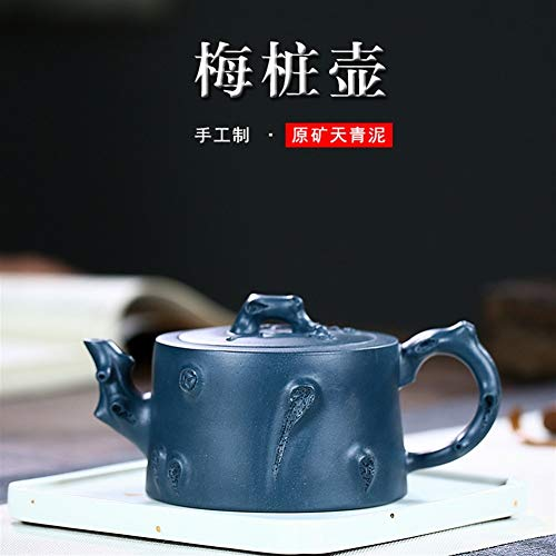 HuiLai Zhang theepot erts Pile Plum Groen Klei potten Hand-kung fu Thee Gift Paarse modder